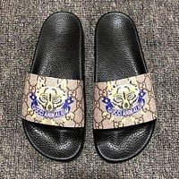 GUCCI Newest Fashion Couple Casual Print Slipper Sandals Shoes 3#