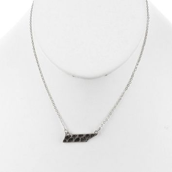 State Of Tennessee Hammered Cutout Necklace