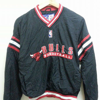 Vintage 1990s Bulls Basketball Nba Starter Sweater Jumper Pull Over Jacket