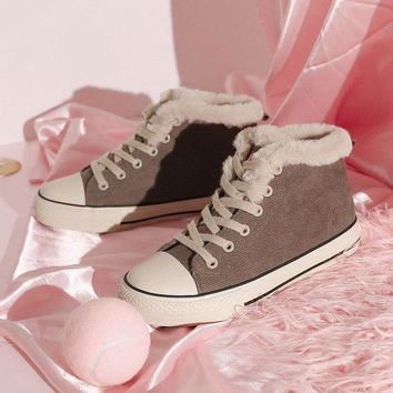 Coolstufs NEW Casual Suede Sneakers Warm Ankle Platform Snow Winter Boots For Women
