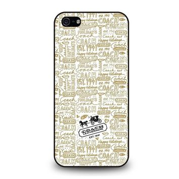COACH NEW YORK COLLAGE iPhone 5 / 5S / SE Case Cover