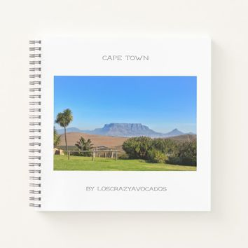Cape Town Table Mountain Green Grass Notebook