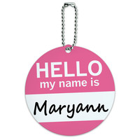 Maryann Hello My Name Is Round ID Card Luggage Tag