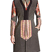 Etro - Pinch-Pleated Totem Print Coat - Saks Fifth Avenue Mobile