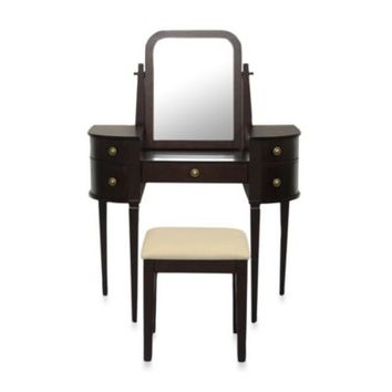Lamont Home Chelsea Vanity Set in Espresso