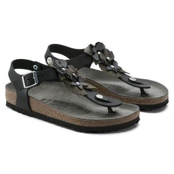 VON3TL Birkenstock Beach Sandals Kairo Oiled Leather Black Sandals