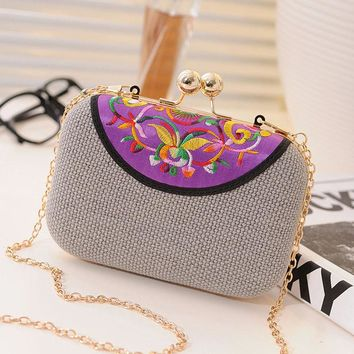 Women's Vintage Ethnic Embroidered Clutch Bags