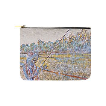 Levi Thang Fishing Design 2 Carry-All Pouch 8''x 6''