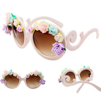 PenBangs — Handmade Polymer Clay Rose Flower Frame Sunglasses