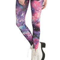 Blue And Pink Galaxy Leggings