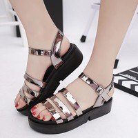 Sandals women narrow band platform