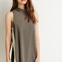 Contrast High-Slit Tunic
