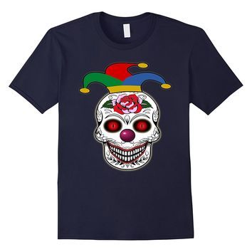 Scary Clown Skull Halloween Shirt-Scary Clown Night Tee