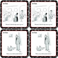 Paperproducts Design The New Yorker Set 2 Coaster Set, Set of 4