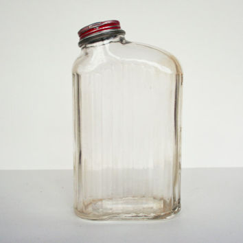 Shop Vintage Red Glass Bottles on Wanelo