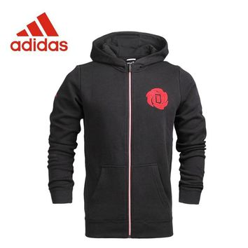 Original Adidas New Arrival Official men's Knitted Hoodie Jacket Sportswear S92362 S92363