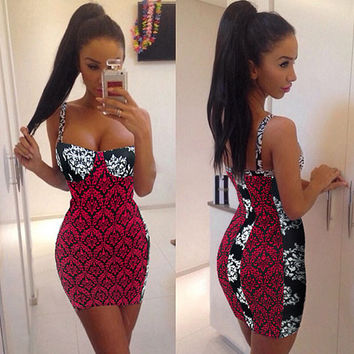 Africana Print Bodycon Dress