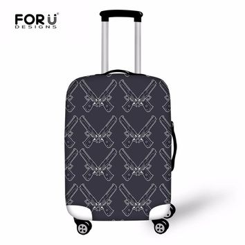 FORUDESIGNS Guns Luggage Cover Thick Elastic Suitcases Protective Cover For 18-30 inch Case Travel Suitcase Covers With Zipper