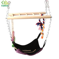 Pet Hammock Suspension Bridge with Ladder & Hammock Hamster Hanging Climbing Toy Small Animal Pet Products Rest Cat House Mat