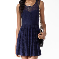 Lace Striped Dress
