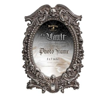 Alchemy Gothic Victorian Masque of the Black Rose & Skull Picture Frame