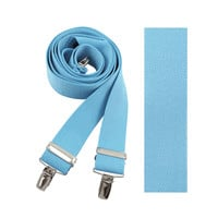 "Light Blue Solid Suspenders - 1-1/2"" Solid Color Suspenders"