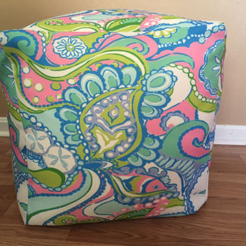 Lilly Pulitzer Inspired Ottoman Seats