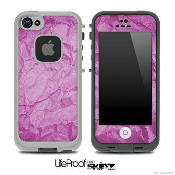 Crumpled Purple Paper Skin for the iPhone 5 or 4/4s LifeProof Case