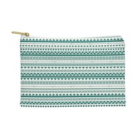 Allyson Johnson Teal Aztec Pouch