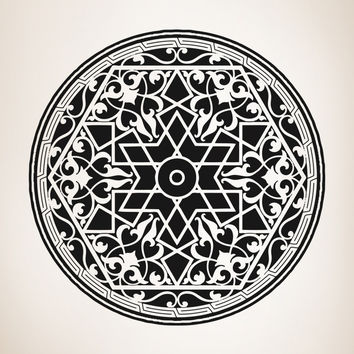 Vinyl Wall Decal Sticker Arabic Art Circle #OS_AA330