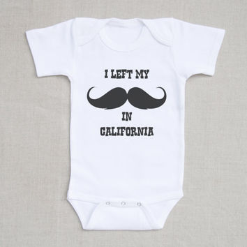 Mustache Onesuit- Baby Boy Onesuit-Little Man Mustache Graphic- Romper Bodysuit- Baby and Toddler Clothing- Baby Gift or First Birthday