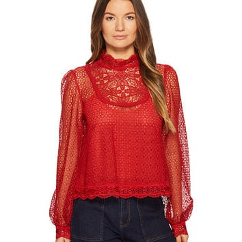 The Kooples Vintage Lace Top with Buttons