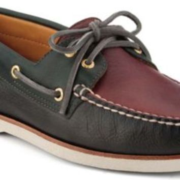 Sperry Top-Sider Gold Cup Authentic Original 2-Eye Boat Shoe Graphite/Midnight/Burgundy, Size 13M  Men's Shoes