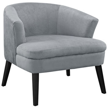 Bounce Wood Armchair in Gray