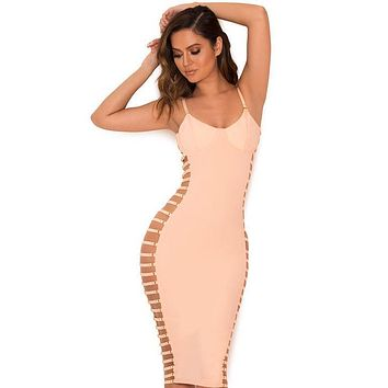 Giovanna Blush Open Side Bustier Dress