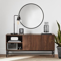 Mainstays Sumpter Park Console Table, Black Oak - Walmart.com