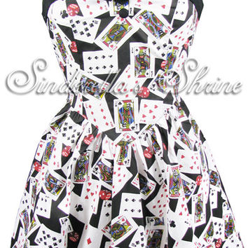 Hell Bunny Vegas Short Casino Poker Dress