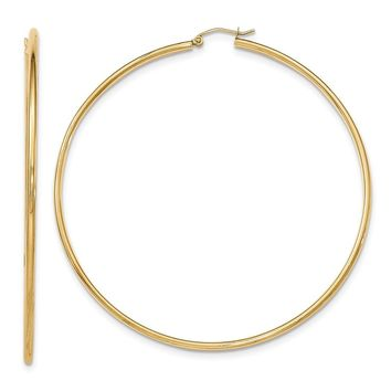 14K Yellow Gold Light Weight Hoop Earrings