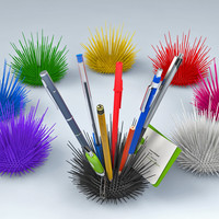Desk Urchin - A cool way to organize your desk! by UrbanoRodriguez on Shapeways