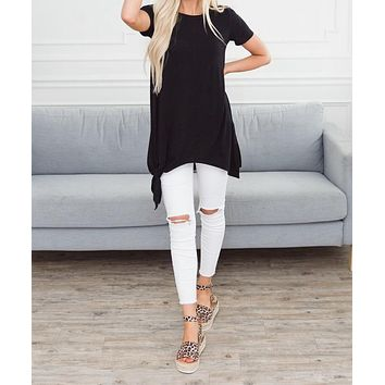 Transition Tie Tunic Top
