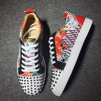 Cl Christian Louboutin Low Style #2001 Sneakers Fashion Shoes