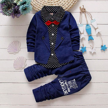 Baby Boys Long Sleeve Gentleman Suit