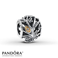 Pandora Family Tree Charm Clear CZ Sterling Silver/14K Gold