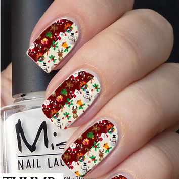 Mixed Christmas nail decal