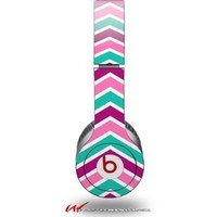 Zig Zag Teal Pink Purple Decal Style Skin (fits genuine Beats Solo HD Headphones - HEADPHONES NOT INCLUDED):Amazon:Electronics
