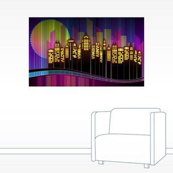 Modern Cityscape Wall Decal