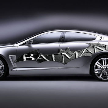 Batman Colored Side Vinyl Graphics Full color Car graphics decal car gc327
