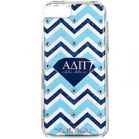 iPhone Cover- Alpha Delta Pi- Blue Chevron Diamond - Debbie Brooks Product