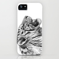 White Tiger Profile iPhone Case by S-Schukina | Society6