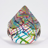 Candy Pyramid Paperweight by Paul D Harrie: Art Glass Paperweight | Artful Home